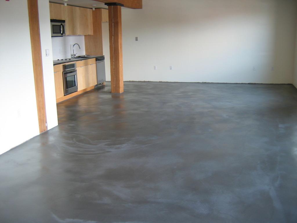 Как сделать пол из бетона