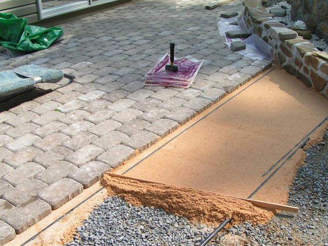 Укладка тротуарная плитка своими руками изготовление